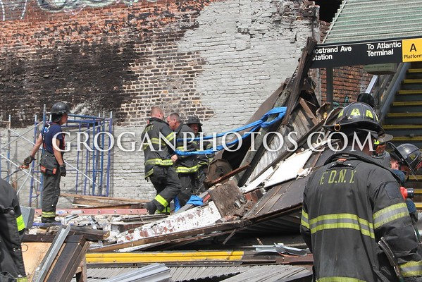 Brooklyn Collapse Atlantic Ave and Nostrand Ave 6/6/15